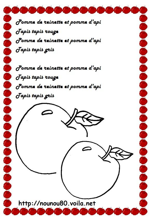 Nos Travaux Manuels Pommes